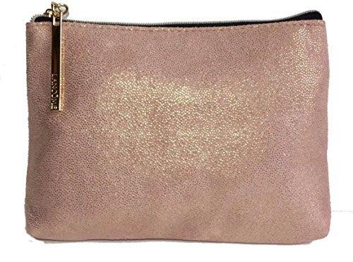 Lancôme Shimmer Shimmery Rose-Gold Cosmetic Travel Bag