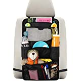 INFANZIA Car Seat Back Organizer for Kids Travel Accessories Back Seat Protector with Multi Pocket Storage