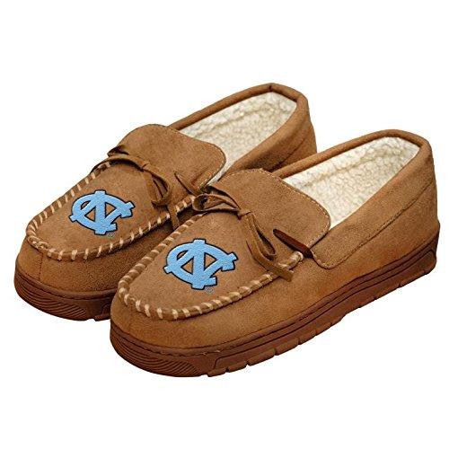 College Mens Team Logo Moccasin Slippers Shoe - Pick Team (North Carolina Tar Heels, Medium)