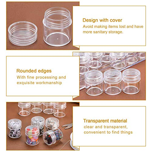 Legendog 30 Grids Diamond Painting Storage Containers, Clear Plastic Bead Storage Containers Light Boxes for Diamond Painting, Embroidery Accessories Diamond Art Painting Tool Boxes Organizers