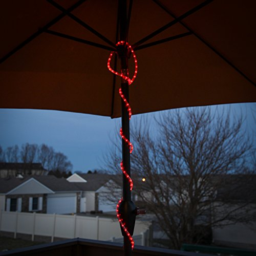 Persik red rope light outdoor indoor 18 feet 216 red incandescent persik red rope light aloadofball Choice Image