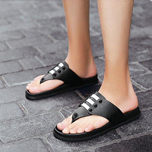 Zapatillas de Brown Zhou 38 Verano de Hombres de Exterior Ideales EU y Otoño Black Zapatillas Playa Color Verano de para Cómodas Cuero Primavera 2 3 Sharon para la Size Dark Ocasionales XwSqSd