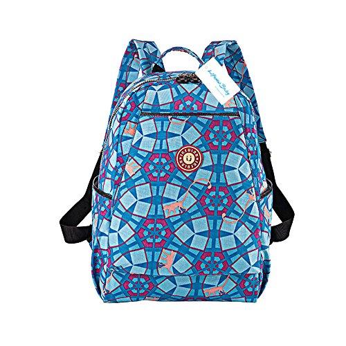 Prueba de Agua bebé lactancia cambio mochila grande momia bolsa de pañales portátil bolsa + Pañales Pad + bolsa de pañales + cochecito Hook Hanger Monkey White azul