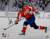Alexander Ovechkin Signed Capitals 16x20 Black & White Color Shooting Photo- PSA/DNA Authentication