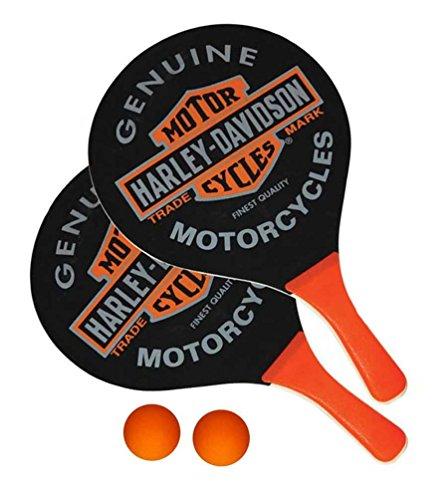Harley-Davidson Trademark Bar & Shield Paddle Ball Set, Black & Orange 66210