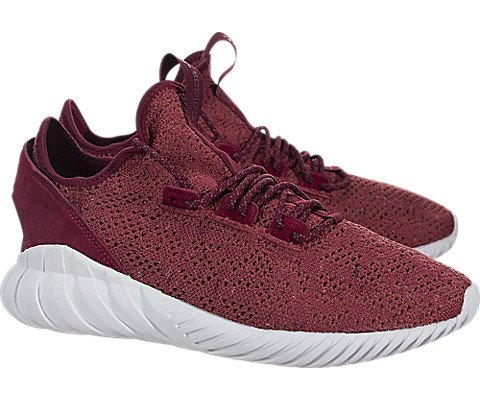 adidas Men's Tubular Doom Sock PK Originals Red/Burgundy/White Running Shoe 10.5 Men US