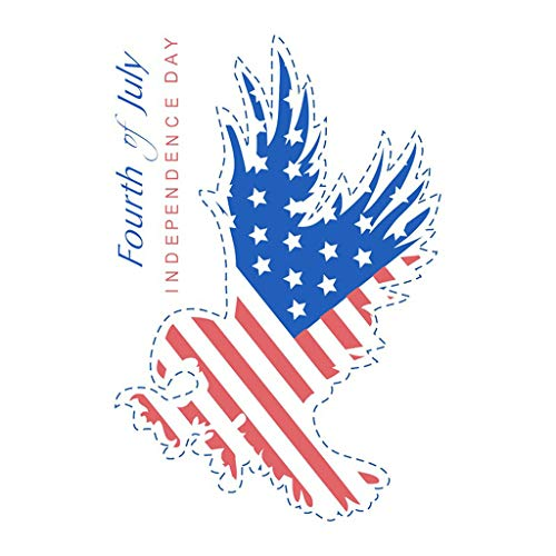 uaswguDFS Eagle Independence Day Wall Sticker - Removable Mural, Vinyl Decal Art Sticker, Decor for Kids Bedroom or Birthday Gift, Beautiful Wall Decals for Any Room School