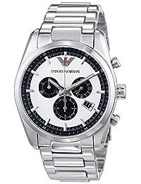 Armani AR6007 43mm Silver Steel Bracelet & Case Mineral Men's Watch