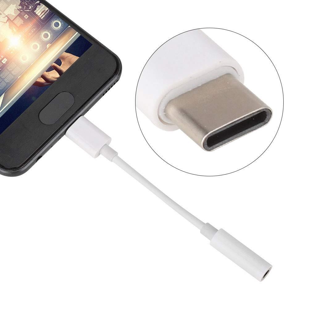 conexi/ón Estable para Android Tipo-C Oumij Adaptador de aud/ífono USB Tipo C a 3,5 mm para Escuchar la canci/ón Llamada Directa Adaptador de Control de Alambre Anti-oxidaci/ón