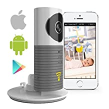 Smart Baby Monitor with P2P Night Vision Record Video, Surveillance System Security Camera Compatible With iPhone & Android. Wifi Enabled Nanny Cam, 2 Way Talkback With Motion activated Cell Alerts (Grey)