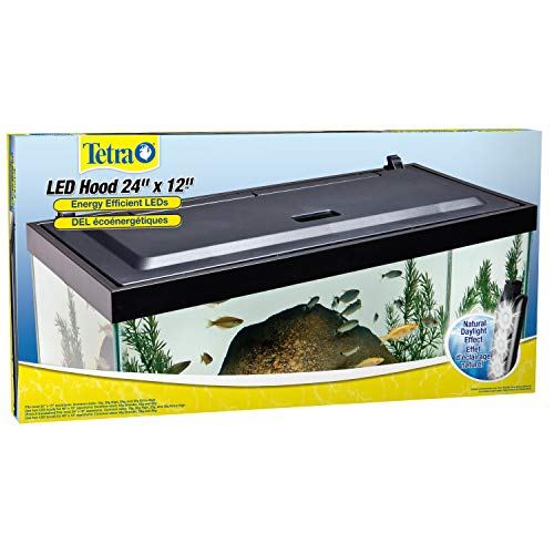 - Tetra LED Aquarium Hood, Low Profile, Energy Efficient, 24 inch