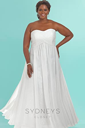 Dream Girl Wedding Dress White 32 at Amazon Women\'s Clothing ...