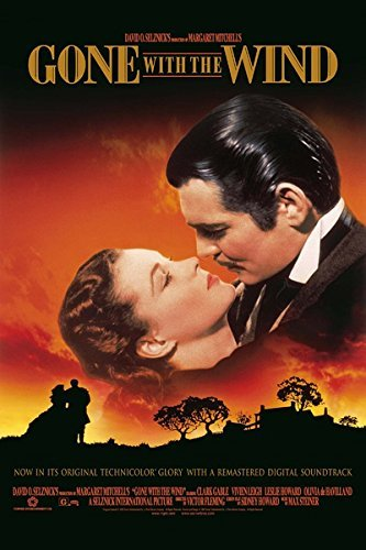 Gone with the Wind (1939) vintage movie poster 24x36inch 01