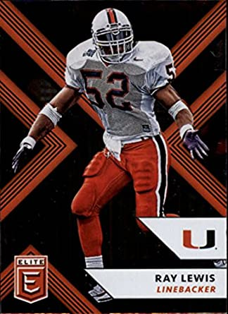 buy popular 5230b e6e0c 2018 Panini Elite Draft Picks #82 Ray Lewis Miami Hurricanes Football Card