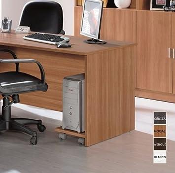 Azor - Soporte con ruedas para cpu, medidas 45 x 25 cm, color blanco: Amazon.es: Hogar