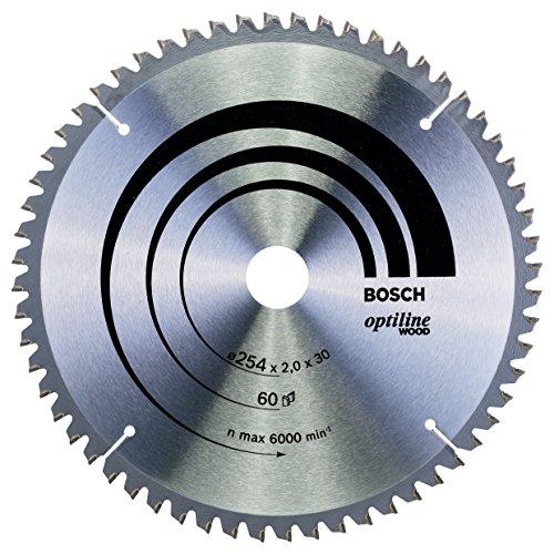 Bosch Zubehör 2608640436 Kreissägeblatt Optiline Wood 254 x 30 x 2,0 mm, 60