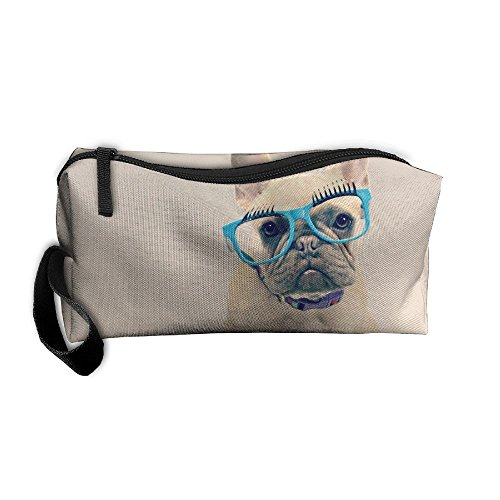 Ming Horse Cool French Bulldog Sunglasses Small Travel&home Portable Make-up Receive Bag Hand Cosmetic - Sunglasses Eclipse Can For Used Be