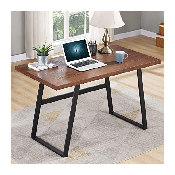 BON AUGURE Small Wooden Writing Desk, Industrial Computer Desk for Small Spaces, Rustic Table Desk for Home Office (47… -  - writing-desks, living-room-furniture, living-room - 51t43c1PNrL. SS570  -