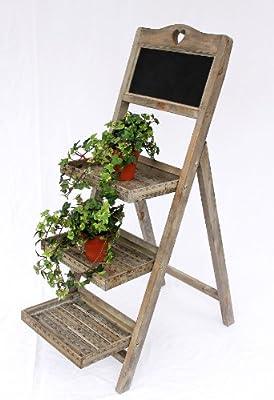 Esquinero de madera 12061 con pizarra altura-110cm macetas para plantas: Amazon.es: Hogar