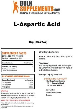 BulkSupplements L-Aspartic Acid Powder 5 Kilograms