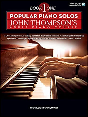 popular piano solos john thompsons adult piano course book 2 bk audio online