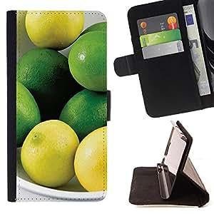 Dragon Case- Mappen-Kasten-Prima caja de la PU billetera de cuero con ranuras para tarjetas, efectivo Compartimiento desmontable y correa para la mu?eca FOR Samsung Galaxy S5 Mini SG870a, SM-G800- Lemon