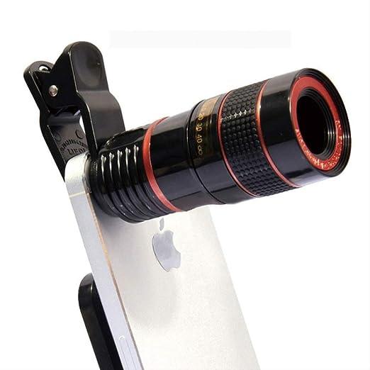 ACZZJ Lentes de teléfono móvil con Zoom telescópico 12x para ...