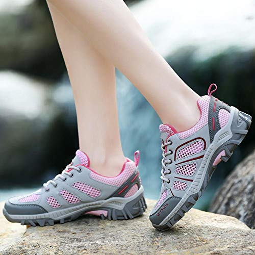 de 36 Rosado Correr 40 Running Aire Cordones Malla Mujer Ascendente Zapatos Zapatillas Deportivas Senderismo Sneakers Libre Logobeing qEC4pwn