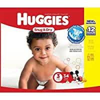 Huggies Snug & Dry Diapers - Size 3 - 34 Count