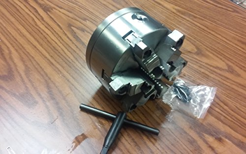 6'' 6-JAW SELF-CENTERING LATHE CHUCK w. top&bottom jaws w. 2-1/4''-8 adaptor-new by CME Tools