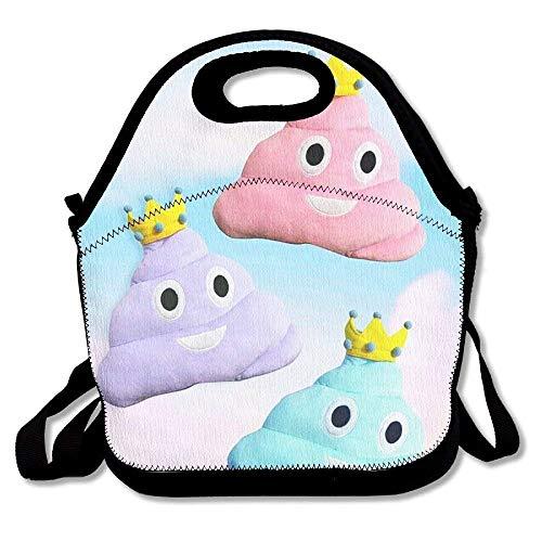 - Lightweight Princess Poo Pillow Lunch Bag Lunch Box Handbag 3D Animal Prints For Kids And Adults