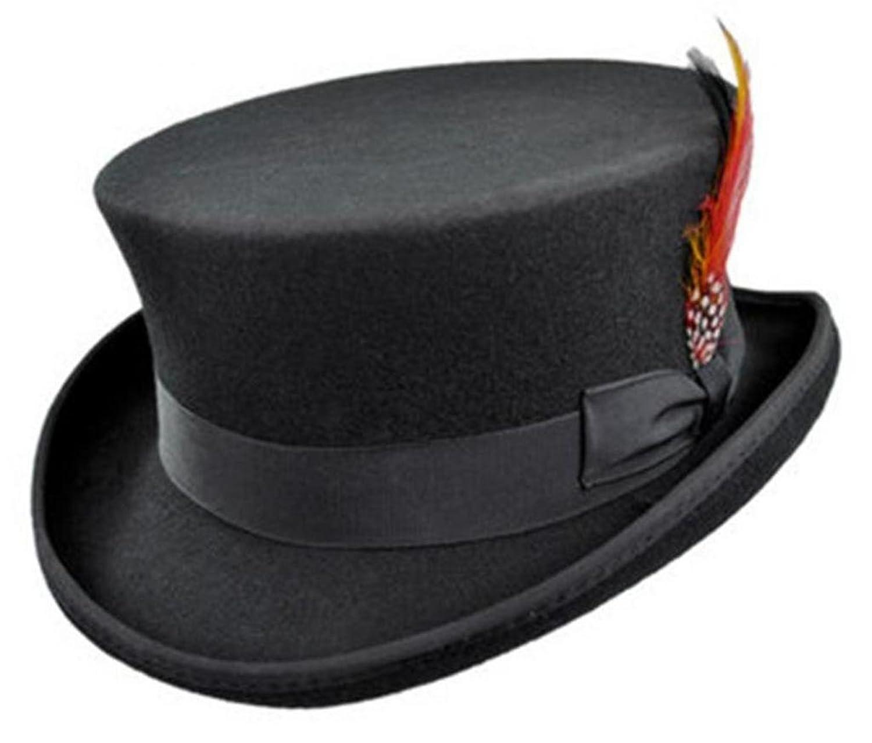 Deluxe Adult Costumes - Men's Jaxon wool felt deadman black top hat.