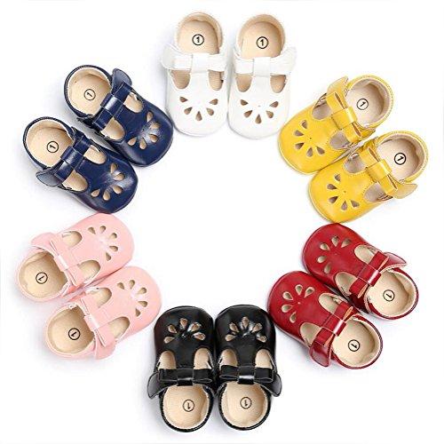 Vlunt Baby Mädchen Kleinkind Schuhe Kunstleder T-Strap Babyschuhe Sandalen Rosa