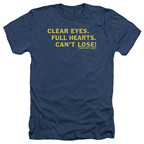 - Friday Night Lights TV Series Clear Eyes Adult Heather T-Shirt Tee