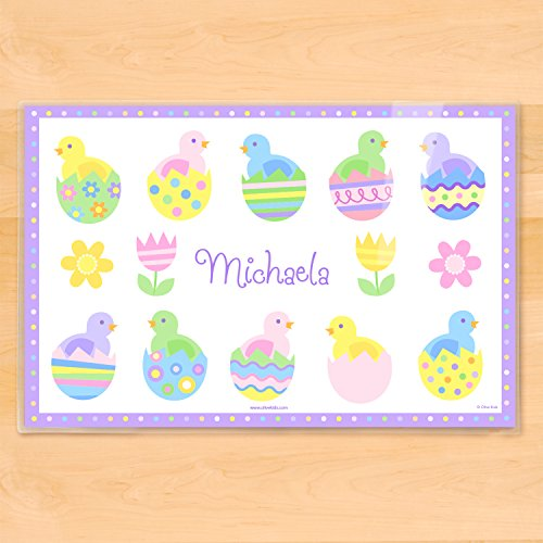 Olive Kids Personalized Easter Placemats Baby (Chick Personalized Placemat)
