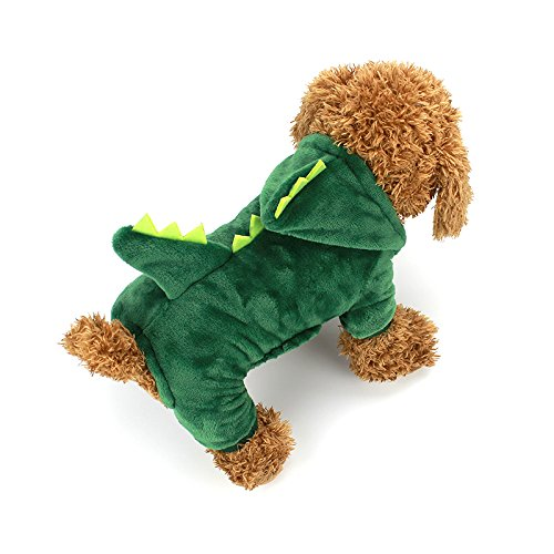Dogs Halloween (Dogs Clothes Small Pet Costume Halloween Dinosaur Costume Dog Clothing Puppy Outfits Funny Apperal (XS))