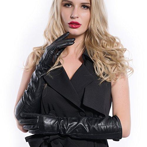 Matsuカジュアルレディースエルボラムスキンレザードレス手袋m9229 N-44