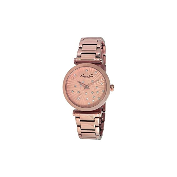 Kenneth Cole IKC0019 - Reloj con Correa de Caucho para Mujer, Color marrón/Gris