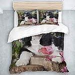 SUHOM Duvet Cover Set, American Cocker Spaniel Dog,Decorative 3 Piece Bedding Set with 2 Pillow Shams Queen Size 5