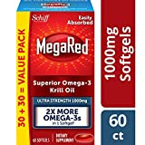 MegaRed 1000mg Ultra Strength Omega-3 Krill Oil - No fishy burps as will