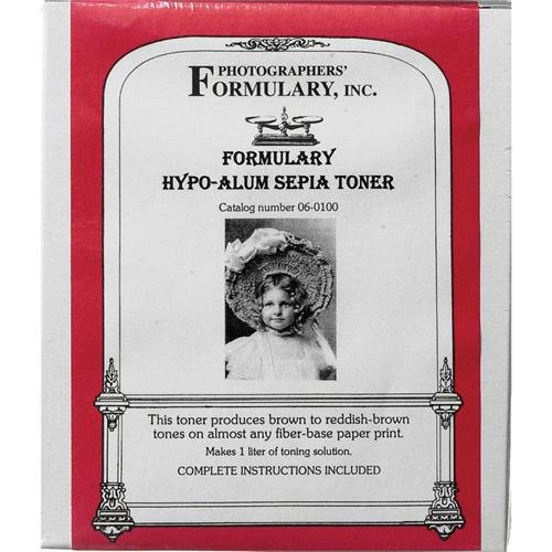 Photographer 's Formulary 06 – 0100トナーのブラック&ホワイトPrints – hypo-alumセピア/Makes 1リットル   B0010C3S7E