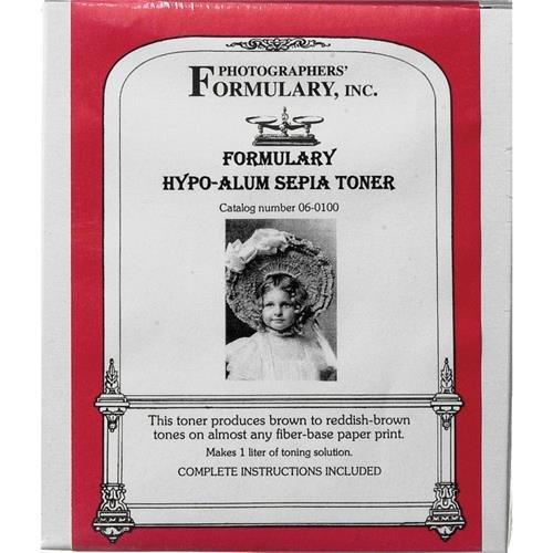 Photographer's Formulary 06-0100 Toner for Black & White Prints - Hypo-Alum Sepia/ Makes 1 Liter