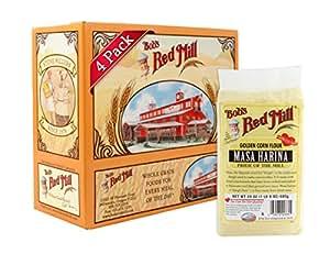 Bob's Red Mill Golden Masa Harina Corn Flour, 24 Ounce (Pack of 4)