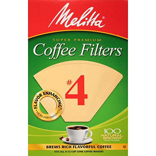 - Melitta Cone Coffee Filters Natural Brown #4 100 count