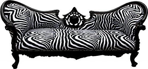 Casa Padrino Barock Sofa Vampire Zebra / Schwarz - Möbel