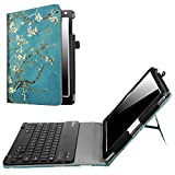 Fintie New iPad 9.7 Inch 2017 / iPad Air 2 / iPad Air Keyboard Case - Premium PU Leather Folio Stand Cover with Removable Wireless Bluetooth Keyboard for Apple iPad 9.7 2017 Model, iPad Air 1 2, Blossom