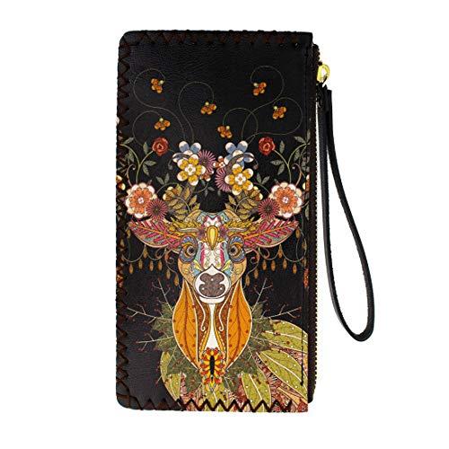 Floral Deer Wristlet Wallet...