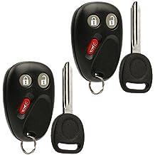 Key Fob Keyless Entry Remote with Ignition Key fits 2003-2006 Chevy Avalanche Equinox Silverado SSR Suburban Tahoe/GMC Sierra Yukon/Hummer H2 / Pontiac Torrent/Saturn Vue (LHJ011), Set of 2