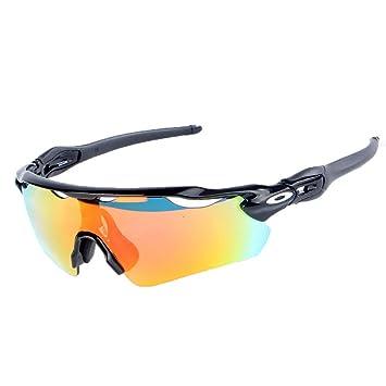 Cradifisho XQ - Gafas de sol para hombre y mujer (polarizadas, 5 lentes intercambiables