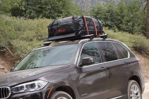 Rocket Straps  Car Top Carrier   Roof Bag Storage   Use Car Carriers Rooftop Luggage Carrier with Roof Racks & Cross Bars   100% Waterproof PVC 15 cuft RoofBag   Inc Carrier Bag & (2) Lashing Straps by Rocket Straps (Image #5)